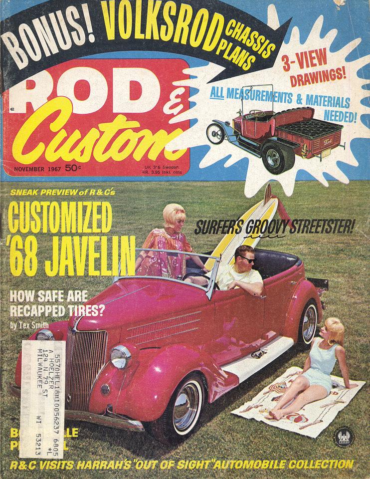 Rod & Custom Vol. 15 No. 11 Magazine, Nov 1, 1967 at Wolfgang\'s