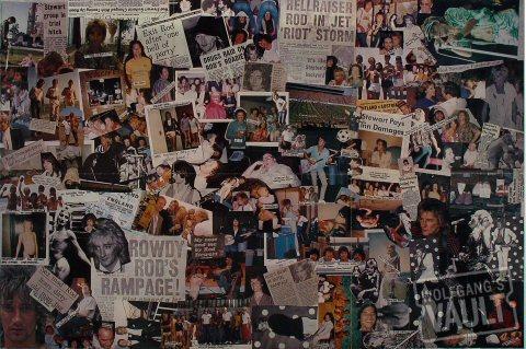 Rod Stewart Poster reverse side