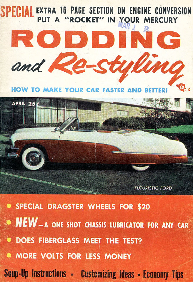 Rodding And Re Styling Magazine April 1956
