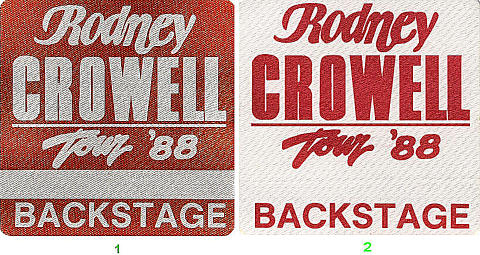 Rodney Crowell Backstage Pass