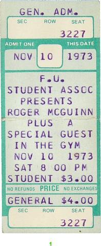 Roger McGuinn Vintage Ticket