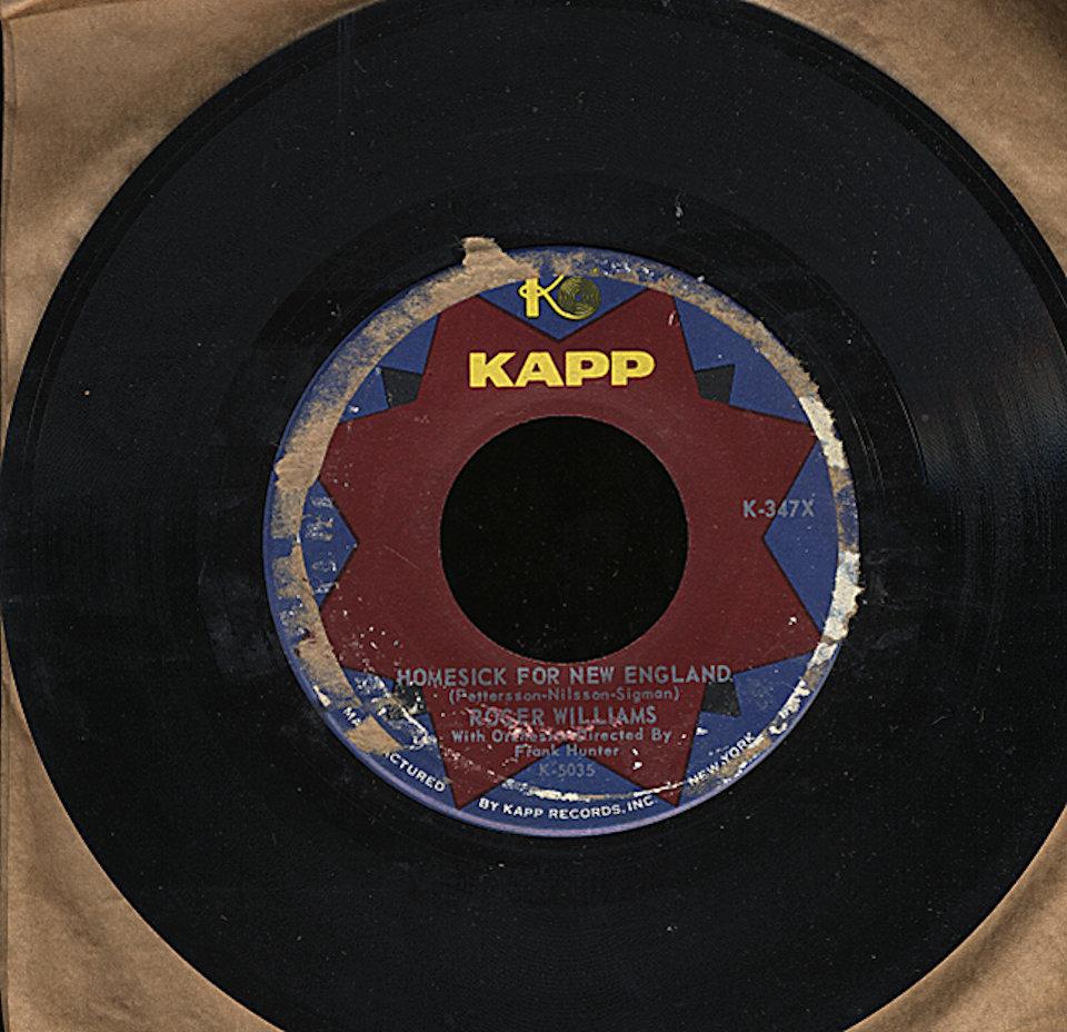 """Roger Williams Vinyl 7"""" (Used)"""