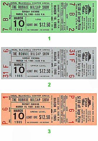 Ronnie Milsap Vintage Ticket