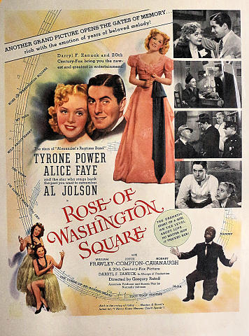 Rose Of Washington Square Vintage Ad