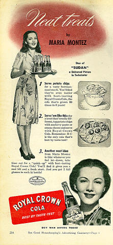 Royal Crown Cola: Neat Treats Vintage Ad