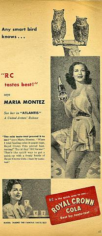 """Royal Crown Cola: """"RC Tastes Best!"""" Vintage Ad"""