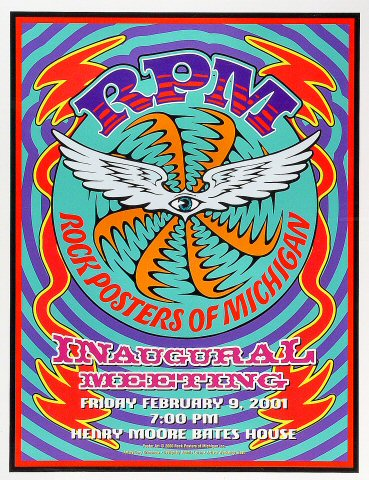RPM: Rock Posters of Michigan Poster