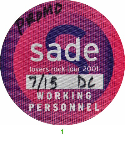 Sade Backstage Pass