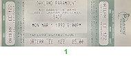 Sade Vintage Ticket