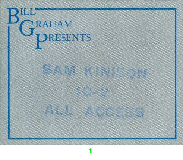 Sam Kinison Backstage Pass