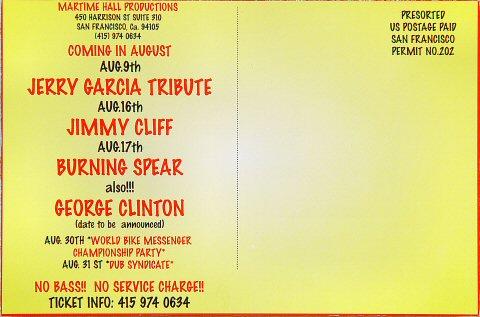 Samba Mapangala Postcard reverse side