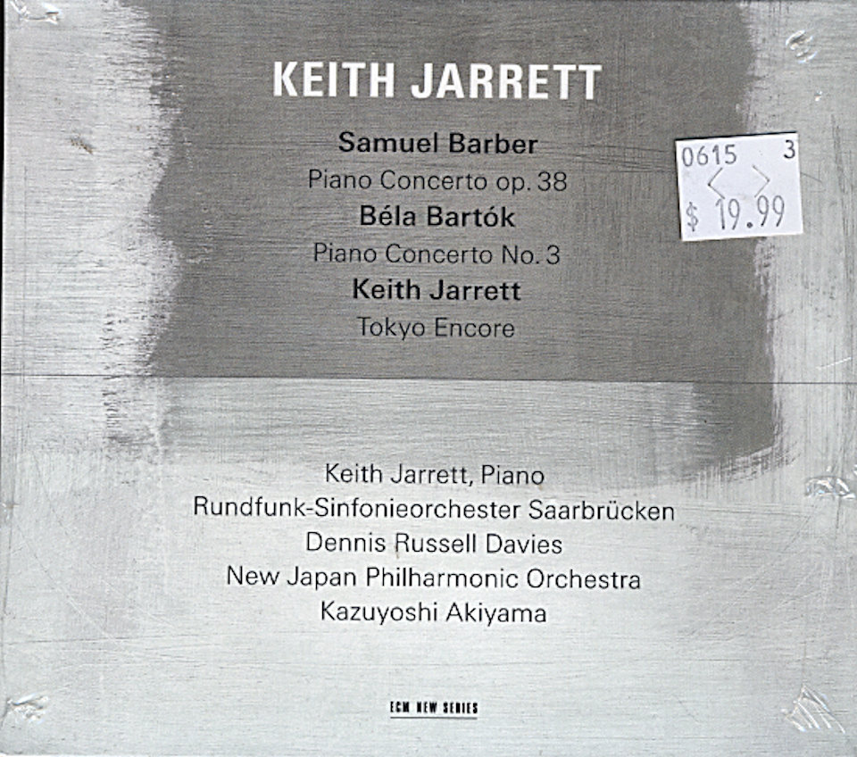 Samuel Barber / Bela Bartok / Keith Jarrett CD