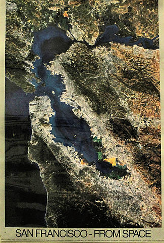 San Francisco - From Space Poster