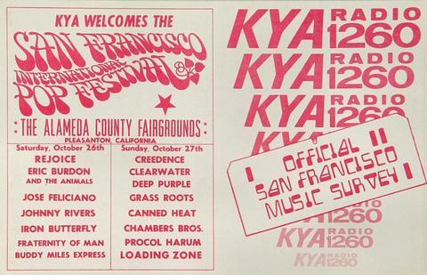San Francisco International Pop Festival Handbill