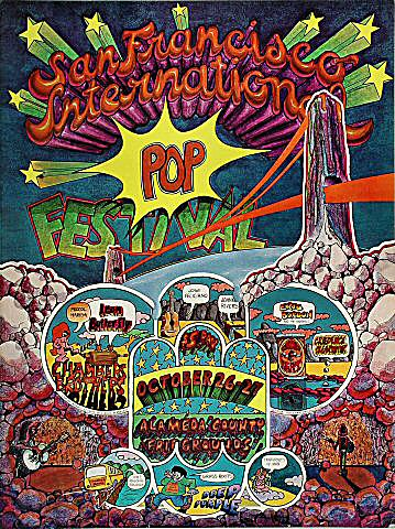 San Francisco International Pop Festival Postcard