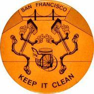 San Francisco Keep It Clean Pin