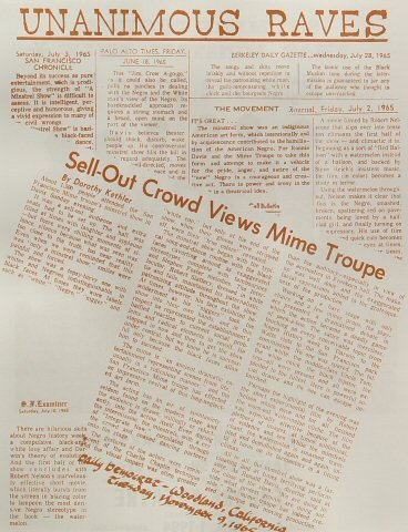 San Francisco Mime Troupe Handbill reverse side