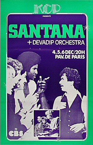 Santana & Devadip Orchestra Poster