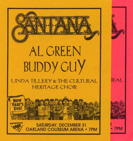 Santana Handbill reverse side