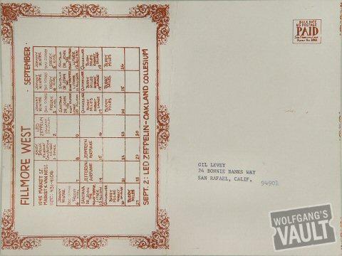 Santana Postcard reverse side
