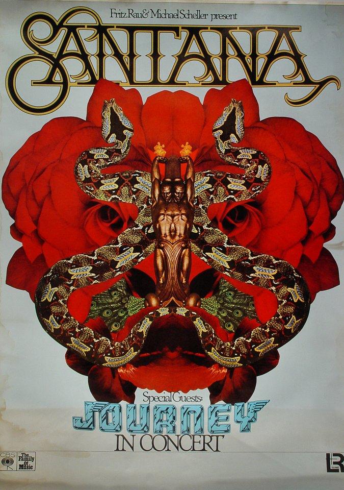 Santana Vintage Concert Poster 1977 At Wolfgang S