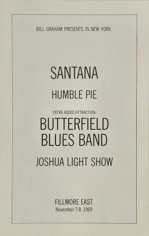 Santana Program reverse side