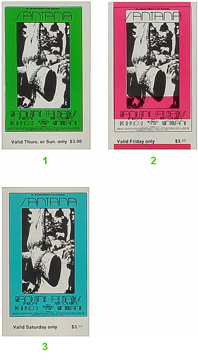 Santana Vintage Ticket