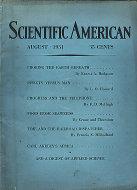 Scientific American Magazine August 1931 Magazine