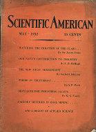 Scientific American Magazine May 1932 Magazine