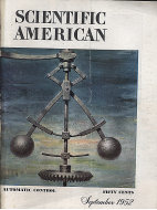 Scientific American Magazine September 1952 Magazine