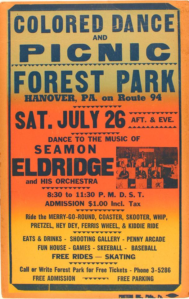Seamon Eldridge And His Orchestra Poster