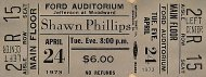 Shawn Phillips Vintage Ticket