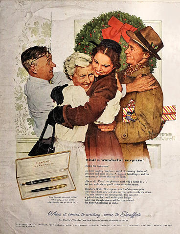 Sheaffer's: What A Wonderful Surprise! Vintage Ad