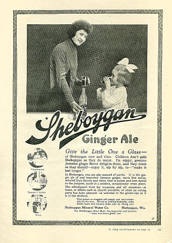 Sheboygan Ginger Ale Vintage Ad