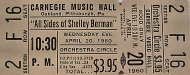 Shelley Berman Vintage Ticket