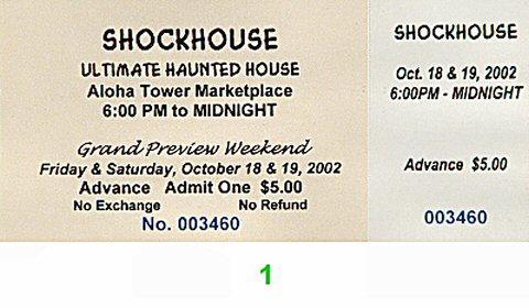 Shockhouse Vintage Ticket