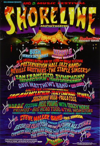 Shoreline Amphitheatre: June/July Poster
