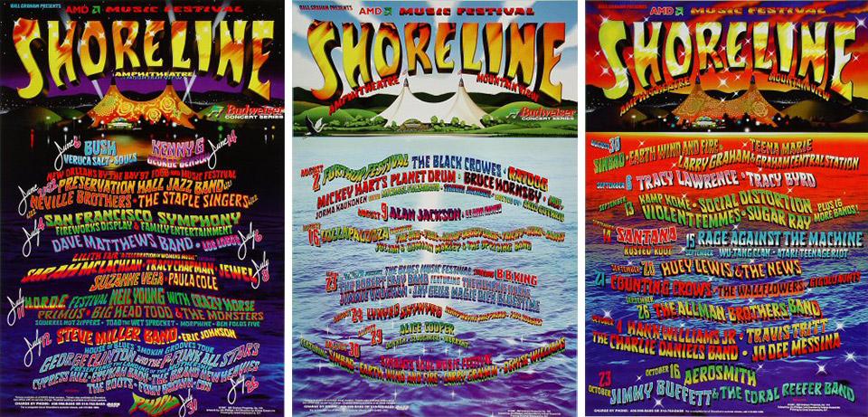 Shoreline Amphitheatre Lineup Poster