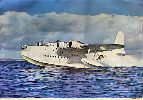 Short Sunderland Mk V ML778 ML-Z of No. 201 Sqdn Poster
