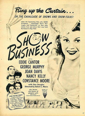 Show Business Vintage Ad