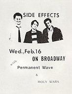 Side Effects Handbill