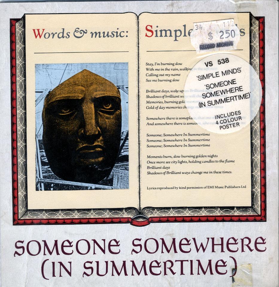 "Simple Minds Vinyl 7"" (New)"