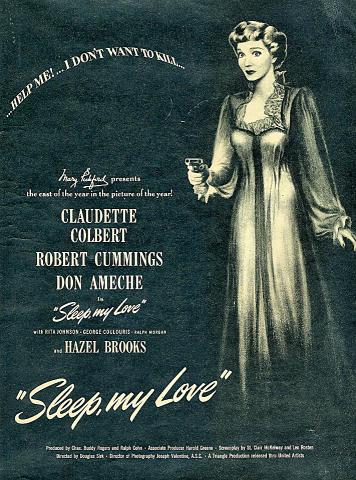 Sleep, My Love Vintage Ad