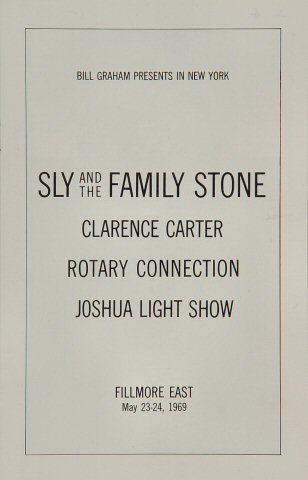 Sly & the Family Stone Program reverse side