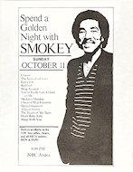 Smokey Robinson Handbill