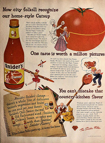 Snider's Catsup Vintage Ad
