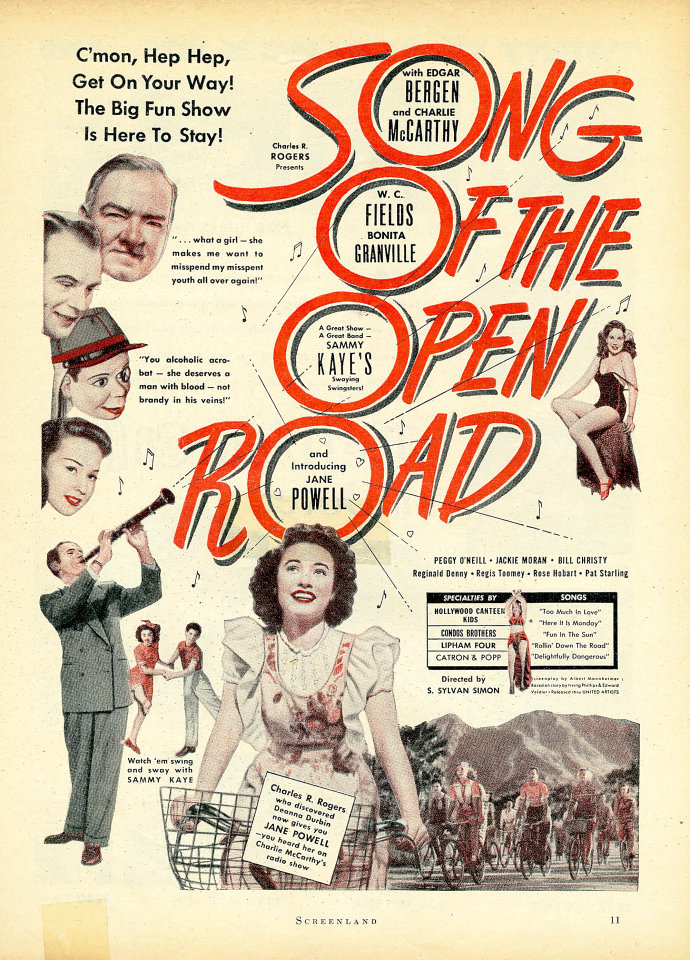 Song Of The Open Road Vintage Ad