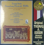 """Songs From Broadway Musicals 1920's Vinyl 12"""" (New)"""