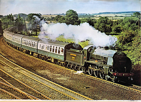 Southern Railway King Arthur Class 4-6-0 No. 777 Sir Lamiel Poster