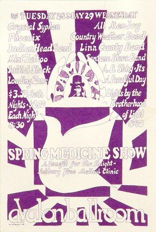 Spring Medicine Show: A Benefit for the Haight-Ashbury Free Medical Clinic Handbill